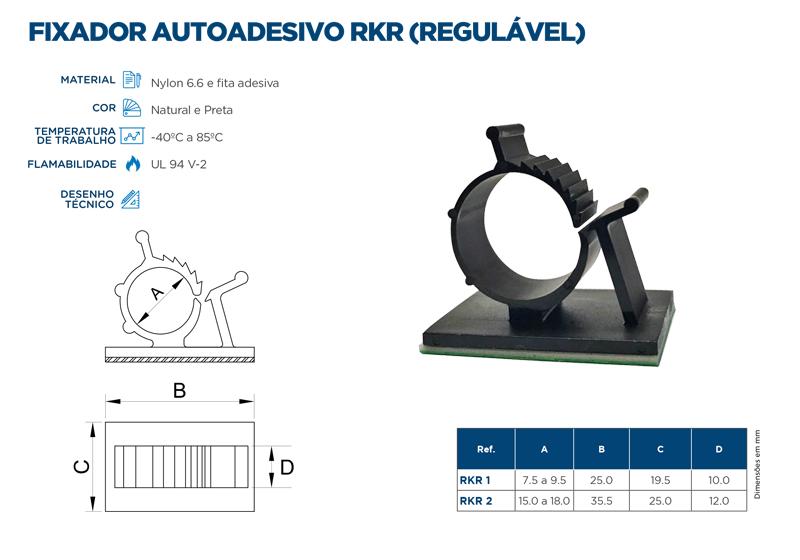 Fixador autoadesivo RKR (regulável)