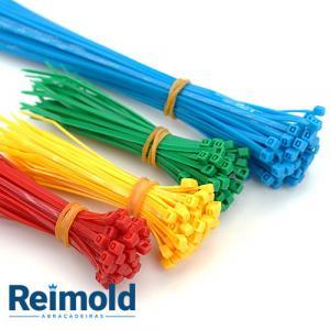 Abraçadeiras plasticas coloridas